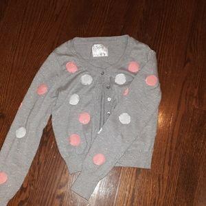 Polka-Dot Gray Sweater